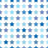 Naadloos patroon met sterren Royalty-vrije Stock Foto's