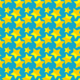 Naadloos patroon met sterren. Stock Fotografie