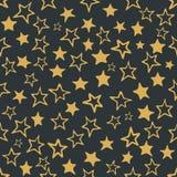 Naadloos patroon met sterren stock illustratie