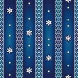 Naadloos patroon met sterren en ornamenten Stock Fotografie