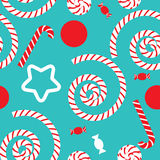 Naadloos patroon met suikergoed Royalty-vrije Stock Afbeelding