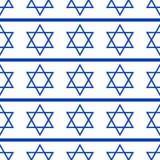 Naadloos patroon met symbolen van de Israëliër Stock Foto's