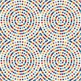 Naadloos patroon met symmetrisch geometrisch ornament Herhaalde de samenvatting omcirkelt achtergrond Etnisch behang Royalty-vrije Stock Afbeelding
