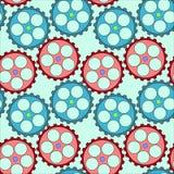 Naadloos patroon met toestellen op groene achtergrond Vector Illustratie
