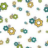 Naadloos patroon met toestelwielen royalty-vrije illustratie