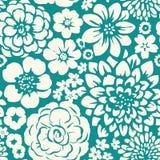 Naadloos patroon met tot bloei komende bloemen Royalty-vrije Stock Foto's