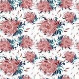 Naadloos patroon met tot bloei komende knoppen van pionbloemen Vector Illustratie