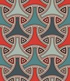 Naadloos patroon met traditioneel Japans ornament Het motief van het Bishamonpantser Herhaalde het met elkaar verbinden cijfers royalty-vrije illustratie