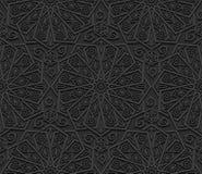 Naadloos patroon met traditioneel ornament Royalty-vrije Stock Foto