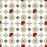 Naadloos patroon met traditionele Japanse decorelementen vector illustratie