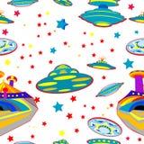 Naadloos patroon met UFO Royalty-vrije Stock Foto