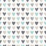 Naadloos patroon met uitstekende houthakkersbijlharten stock illustratie