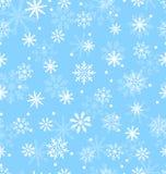 Naadloos Patroon met Variatiesneeuwvlokken Royalty-vrije Stock Afbeeldingen