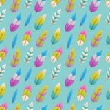 Naadloos Patroon met Veren Royalty-vrije Illustratie