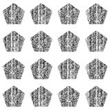 Naadloos patroon met verftextuur Royalty-vrije Stock Foto's