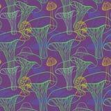 Naadloos patroon met verschillende getrokken hand Royalty-vrije Stock Afbeelding