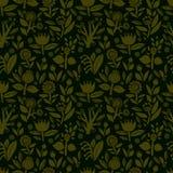 Naadloos patroon met verschillende kleuren op een donkere achtergrond Stock Afbeelding