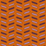 Naadloos patroon met verticaal vlechtornament De achtergrond van de achthoekentegel Visgraatmotief Geometrisch Behang vector illustratie