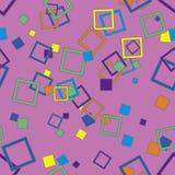 Naadloos patroon met vierkanten stock illustratie