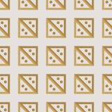Naadloos patroon met vierkanten Royalty-vrije Stock Afbeelding