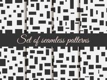Naadloos patroon met vierkanten en rechthoeken Patroon met vierkanten en rechthoeken Zwart-wit kleur Royalty-vrije Stock Foto