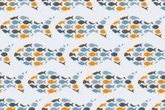 Naadloos patroon met vissen stock illustratie