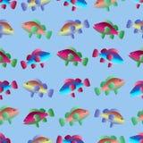 Naadloos patroon met vissen die in het overzees zwemmen stock illustratie