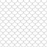 Naadloos patroon met vissenschalen Stock Foto