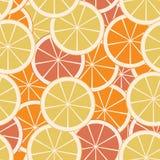 Naadloos patroon met vlakke citrusvrucht Stock Fotografie