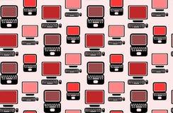 Naadloos patroon met vlakke laptops en computers vector illustratie