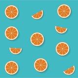 Naadloos patroon met vlakke sinaasappel Royalty-vrije Stock Fotografie