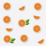 Naadloos patroon met vlakke sinaasappel Royalty-vrije Stock Afbeeldingen