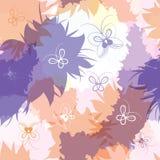 Naadloos patroon met vlekken en vlinders. Royalty-vrije Stock Foto's