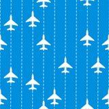 Naadloos patroon met vliegtuigen Royalty-vrije Stock Afbeelding