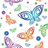 Naadloos patroon met vlinder Stock Afbeeldingen