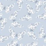 Naadloos patroon met vlinder Royalty-vrije Stock Foto's