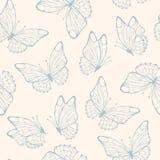 Naadloos patroon met vlinder Retro naadloze kleuren Royalty-vrije Stock Afbeeldingen