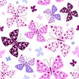 Naadloos patroon met vlinders Royalty-vrije Stock Afbeeldingen