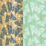 Naadloos patroon met vlinders Royalty-vrije Stock Foto's