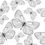 Naadloos patroon met vlinders Royalty-vrije Stock Afbeelding