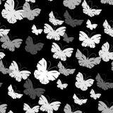 Naadloos patroon met vlinders Stock Afbeelding