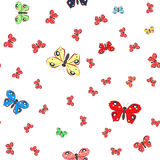 Naadloos patroon met vlinders stock illustratie