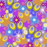 Naadloos patroon met vlinders en bloemen Stock Afbeelding