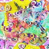 Naadloos patroon met vlinders. Vector, EPS 10 Royalty-vrije Stock Afbeelding