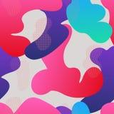 Naadloos patroon met vloeibare gradiëntvormen royalty-vrije illustratie