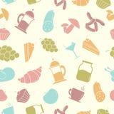 Naadloos patroon met Voedsel Stock Afbeeldingen