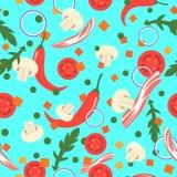Naadloos patroon met voedselplakken Vector ontwerpelementen Royalty-vrije Stock Fotografie