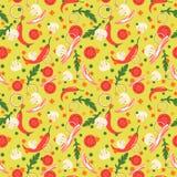 Naadloos patroon met voedselplakken Vector ontwerpelementen Stock Foto's