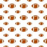 Naadloos patroon met voetbal Stock Afbeelding