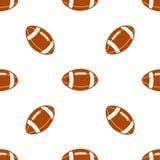 Naadloos patroon met voetbal Royalty-vrije Stock Afbeelding